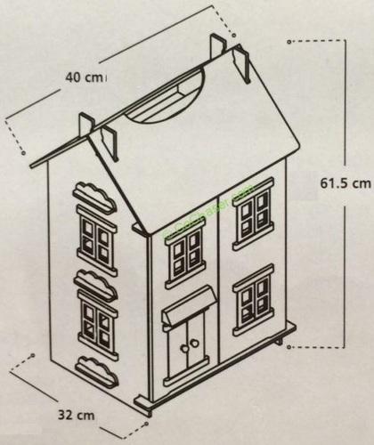 בית בובות תלת קומתי נפתח עם 7 רהיטים - קוטג' האפונה הריחנית TEAMSON - משלוח חינם - תמונה 7