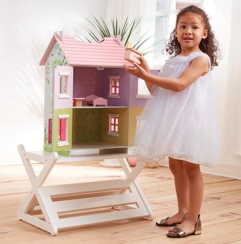 בית בובות תלת קומתי נפתח עם 7 רהיטים - קוטג' האפונה הריחנית TEAMSON - משלוח חינם - תמונה 4