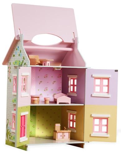 בית בובות תלת קומתי נפתח עם 7 רהיטים - קוטג' האפונה הריחנית TEAMSON - משלוח חינם - תמונה 3