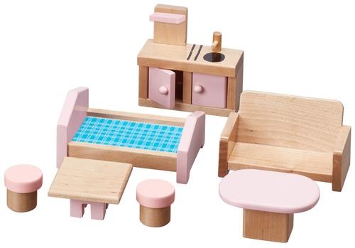בית בובות תלת קומתי נפתח עם 7 רהיטים - קוטג' האפונה הריחנית TEAMSON - משלוח חינם - תמונה 6