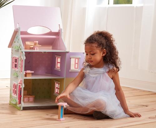 בית בובות תלת קומתי נפתח עם 7 רהיטים - קוטג' האפונה הריחנית TEAMSON - משלוח חינם - תמונה 5