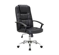 כסא משרדי דמוי עור עם מנגנון הגבהה דגם MANHATTAN