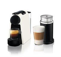 מכונת קפה Nespresso Essenza Mini בצבע לבן דגם D30 כולל מקציף חלב ארוצ'ינו