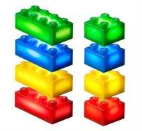 24 קוביות תוספת למשחק צבעוני LIGHT STAX, תואם גודל קוביות LEGO - משלוח חינם!