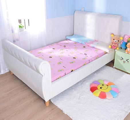 מיטה וחצי/מיטת נוער בשילוב כפתורי קפיטונאז' תואמים דגם נסיכה בצבע שמנת קוקולה - תמונה 5