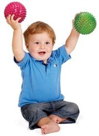"""רביעיית כדורי תחושות עם זיזים בגודל 10 ס""""מ כל אחד"""