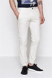 מכנסי בד צמודים לגבר DEVRED בצבע לבן