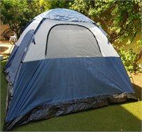 אוהל משפחתי ל-6 אנשים כולל 2 חלונות מרושתים