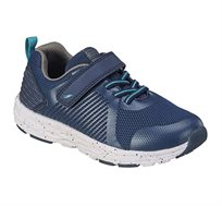 נעלי ספורט לילדים דגם סטאן שרוך בצבע כחול