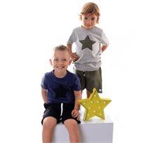 ORO חליפת טריקו (3 חודשים-6 שנים) - אפור כוכב ירוק