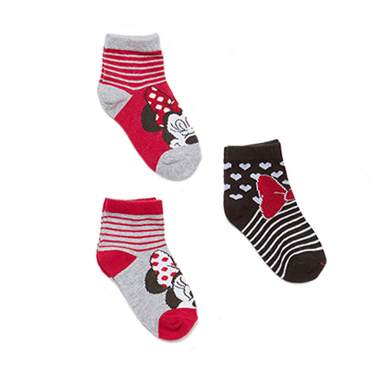 מארז 3 זוגות גרביים OVS קצרים לילדות מיני מאוס