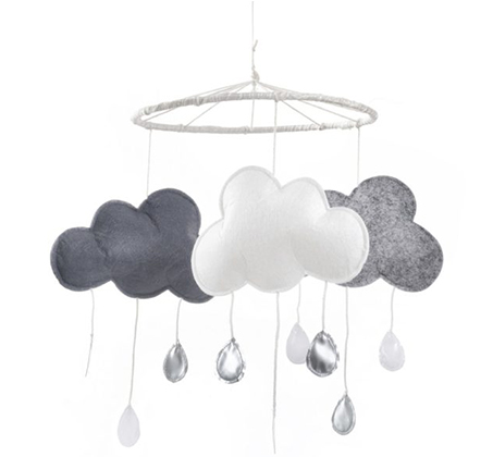 מובייל תקרה לקישוט החדר דגם עננים