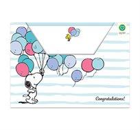 סט 10 אגרות מאויירות ומעטפות צבעוניות במארז Snoopy