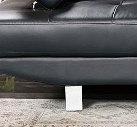 מערכת ישיבה פינתית עם שזלונג בעיצוב צעיר ועכשווי וריפוד דמוי עור דגם אמסטרדם GAROX - תמונה 2