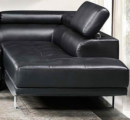 מערכת ישיבה פינתית עם שזלונג בעיצוב צעיר ועכשווי וריפוד דמוי עור דגם אמסטרדם GAROX - תמונה 3