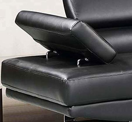 מערכת ישיבה פינתית עם שזלונג בעיצוב צעיר ועכשווי וריפוד דמוי עור דגם אמסטרדם GAROX - תמונה 4