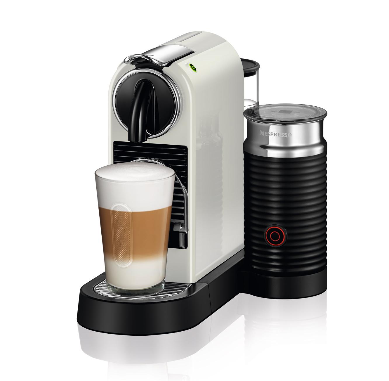מכונת קפה Nespresso דגם סיטיז אנד מילק בצבע לבן דגם D122 - משלוח חינם