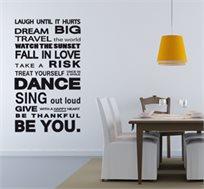 עצבו את השנה שלכם! שובר פתוח למבחר מדבקות קיר מעוצבות לבית ב-50% הנחה!