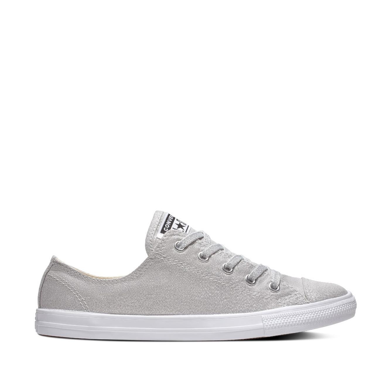 נעלי סניקרס All Star עם סוליה נמוכה לנשים - כסף