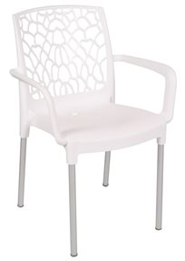 כסא פלסטיק לבית ולמרפסת דגם אמילי במבחר גוונים לבחירה