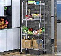 ארגונית למטבח ניידת בעלת 4 קומות לאחסון מוצרים
