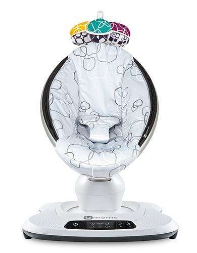 נדנדה חשמלית וטרמפולינה מאמארו 4.0 mamaRoo - אפור silver plush - משלוח חינם - תמונה 2