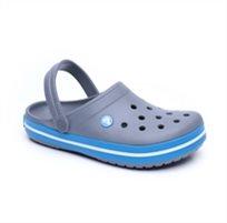 Crocs Crocband - כפכף קרוקס אוורירי בצבע אפורתכלת