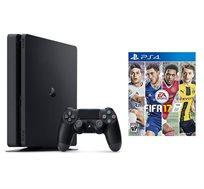 קונסולה PlayStation 4 SLIM בנפח 1TB כולל 2 בקרים משחק FIFA 2017 וסטנד שולחני מתנה!