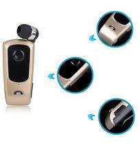 אוזניית Bluetooth אלחוטית ROLLER נשלפת +קליפס אחיזה לבגד לנוחות מרבית - חיבור ל-2 מכשירים בו זמנית