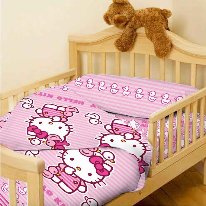 סט 3 חלקים למיטת מעבר/תינוק 100% כותנה סאטן במגוון דמויות אהובות - תמונה 2