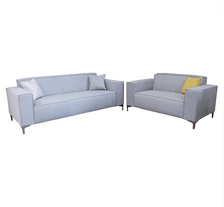 סלון תלת מושבית ודו מושבית עם שלדה חזקה מעץ מלא + 4 כריות מתנה במגוון צבעים לבחירה