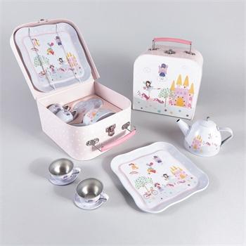סט תה במזוודה 7 חלקים פיה וחד קרן