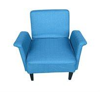 כורסא לסלון בעיצוב אלגנטי עם רגלי עץ ומושב רחב