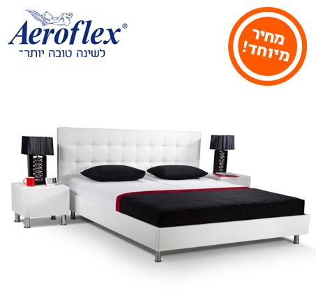ענק לזמן מוגבל! מיטה זוגית+מזרן בגודל 180X200 מבית Aeroflex, בשילוב GR-61