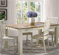 מערכת ישיבה לפינת אוכל ביתילי הכוללת שולחן אוכל דגם מונט וארבעה כסאות דגם מרי