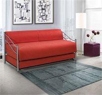 ספת ילדים ונוער LEONARDO על קל איכותית הנפתחת למיטה זוגית דגם אדומית כולל ארגז מצעים