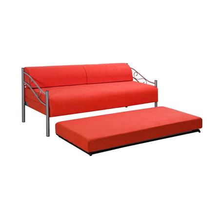 ספת ילדים ונוער LEONARDO על קל איכותית הנפתחת למיטה זוגית דגם אדומית כולל ארגז מצעים  - תמונה 4