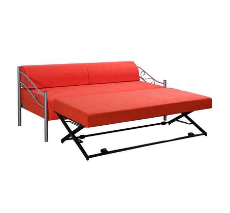 ספת ילדים ונוער LEONARDO על קל איכותית הנפתחת למיטה זוגית דגם אדומית כולל ארגז מצעים  - תמונה 6
