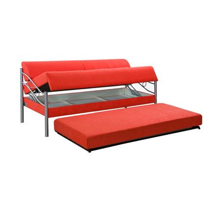 ספת ילדים ונוער LEONARDO על קל איכותית הנפתחת למיטה זוגית דגם אדומית כולל ארגז מצעים  - תמונה 5