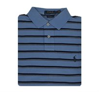 חולצת פולו POLO RALPH LAUREN - תכלת עם פסים כחול/לבן