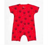 אוברול קצר פופקורן יוניסקס לתינוקות במגוון צבעים לבחירה