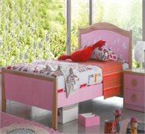 מיטה וחצי איכותית וחזקה מעץ מלא בשילוב mdf דגם הדר מבית Vaya