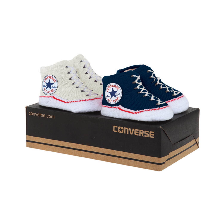 Converse תינוקות//   מארז גרביים תינוקות כחול/נטוראל
