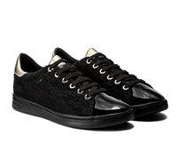 נעלי סניקרס GEOX לנשים D JAYSEN A - NAPPA+GLIT.TEXT - שחור