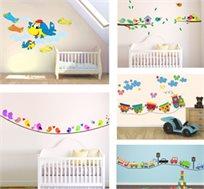 מדבקות קיר לחדרי ילדים במבחר עיצובים
