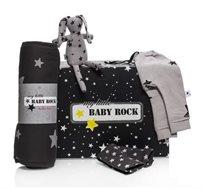 חבילת לידה דובי הכוללת מזרן עגלה, דובי, מכנסיים וזוג חבקים