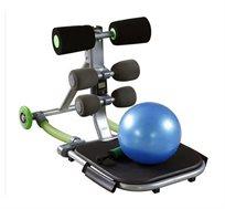 מכשיר לעיצוב וחיטוב הבטן TOTAL CORE כולל משאבה וכדור אימון