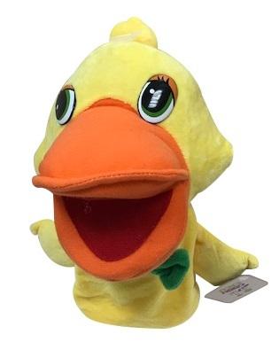 בובת כפפה גדולה עם אפקטים קוליים לפעוטות - ברווז