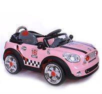 מכונית חשמלית לילדים 6V, שתי מהירויות ושירים מובנים דגם מיני קופר