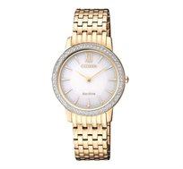 שעון יד סולארי לאישה CITIZEN ללא צורך בסוללה עם זכוכית ספיר